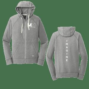 Gray logo Hoodie